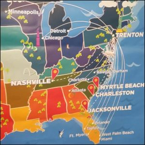 Frontier Airlines expands destinations from Trenton-Mercer